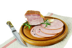 Smoked ham and meat Royalty Free Stock Photo