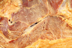 Smoked ham meat close up Royalty Free Stock Image