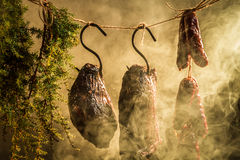 Smoked ham by natural smoke Stock Images