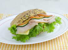 Smoked Ham Sandwich Royalty Free Stock Photo