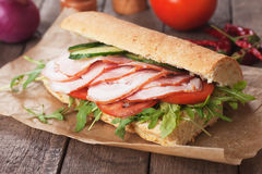 Smoked ham sandwich Stock Image
