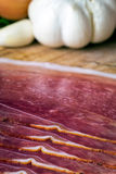 Smoked ham with schwarzwald ham and prosciutto Royalty Free Stock Image
