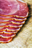 Smoked ham with schwarzwald ham and prosciutto Stock Image