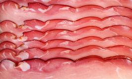 Smoked ham slices Royalty Free Stock Image