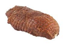 Smoked ham on a white background stock photos