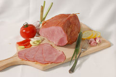 Smoked Ham With Vegetables Royalty Free Stock Photos