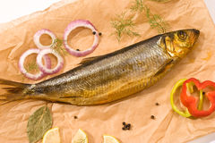 Smoked herring Stock Photos