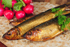 Smoked herring. Royalty Free Stock Photography