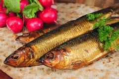 Smoked herring. Royalty Free Stock Photography
