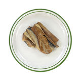 Smoked herring fillets on plate Royalty Free Stock Photography