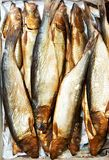 Smoked herring fish Stock Photos