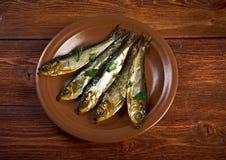 Smoked herring Royalty Free Stock Images