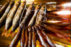 Smoked herring Stock Photography