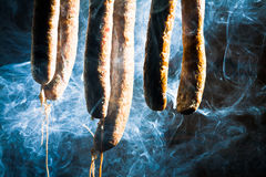 Smoked homemade sausage Royalty Free Stock Photography