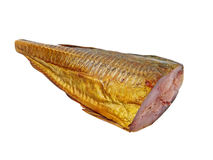 Smoked horse mackerel fillet.Isolated. Stock Image