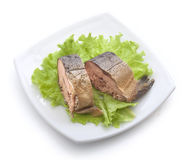 Smoked hunchback salmon Royalty Free Stock Photography