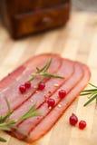 Smoked Italian ham Royalty Free Stock Images