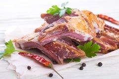 Smoked lamb ribs Royalty Free Stock Images