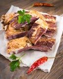 Smoked lamb ribs Royalty Free Stock Photos