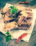 Smoked lamb ribs Royalty Free Stock Photo