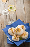 Smoked lemon meringue Stock Image