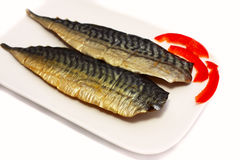 Smoked mackerel Royalty Free Stock Image