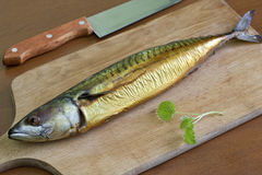 Smoked mackerel Royalty Free Stock Images