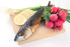 Smoked mackerel stock photos