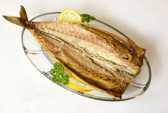 Smoked mackerel royalty free stock photos