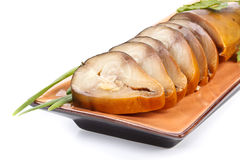 Smoked mackerel Stock Image