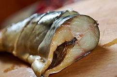 Smoked mackerel cut with slices Stock Photography