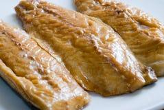 Smoked mackerel fillets royalty free stock photography