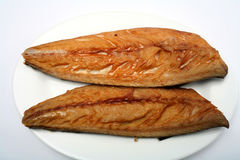 Smoked mackerel fillets Royalty Free Stock Photo