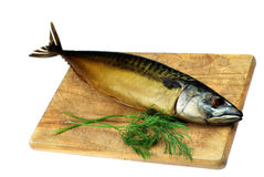 Smoked mackerel fish Royalty Free Stock Photography