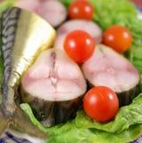 Smoked mackerel fish Royalty Free Stock Image