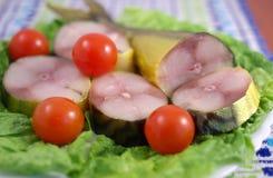 Smoked mackerel fish Stock Photos
