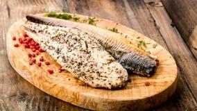 Smoked mackerel stock images