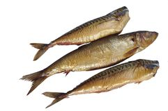 Smoked mackerel and kipper Royalty Free Stock Image