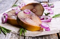 Smoked mackerel Stock Photography