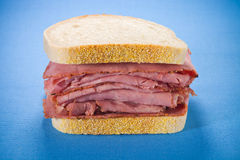 Smoked meat beef sandwich Stock Image