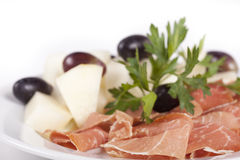 Smoked meat beef slices Stock Image