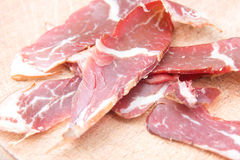 Smoked meat coldcuts Royalty Free Stock Images
