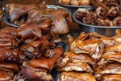 Smoked meat products royalty free stock images