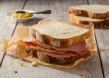 Smoked meat sandwich Royalty Free Stock Photo