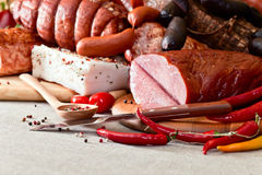 Smoked meat Stock Images