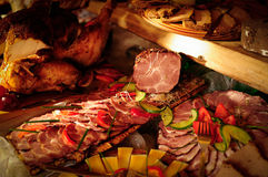 Smoked meats Royalty Free Stock Photography