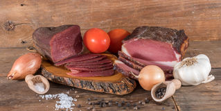 Smoked meats Stock Images