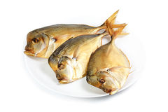 Smoked moonfish on plate Royalty Free Stock Photography