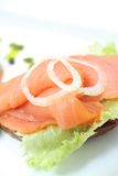Smoked norwegian salmon. With olive oil Stock Images