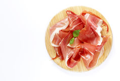Smoked Parma ham royalty free stock photo